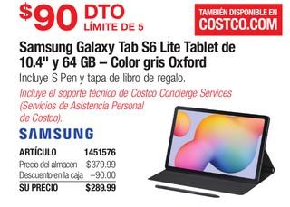 """Samsung Galaxy Tab S6 Lite Tablet De 10.4"""" y 64 GB"""