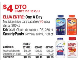 One a Day, Citracal & SmartPants