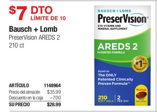 Bausch + Lomb PreserVision AREDS
