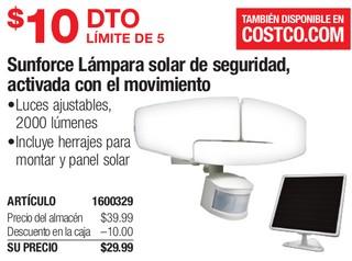 Sunforce Lámpara Solar de Seguridad