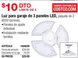 Luz para Garaje de 3 Paneles LED