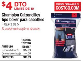 Champion Calzoncillos Tipo Bóxer para Caballero