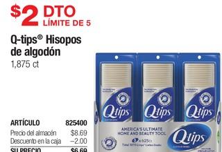Q-Tips Hisopos de Algodón