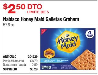 Nabisco Honey Maid Galletas Graham 57.6 oz