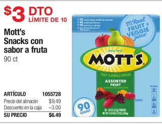 Mott's Snacks con sabor a fruta 90 ct