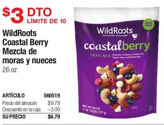 WildRoots Coastal Berry Mezcla de moras y nueces 26 oz