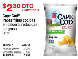 Cape Cod Papas fritas cocidas eb caldero, reducidas en grasa 30 oz
