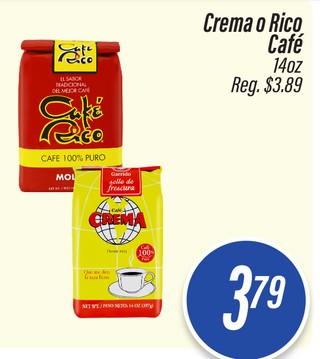 Café Crema o Rico