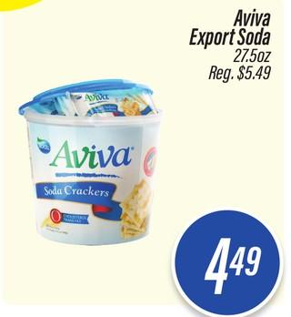 Aviva Export Soda