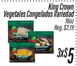 Vegetales Congelados King Crown