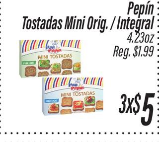Tostadas Mini Original/ Integral Pepín