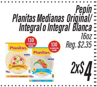 Planitas Mediana Original/ Integral o Integral Blanca Pepín