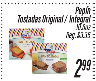 Tostadas Original/ Integral Pepín