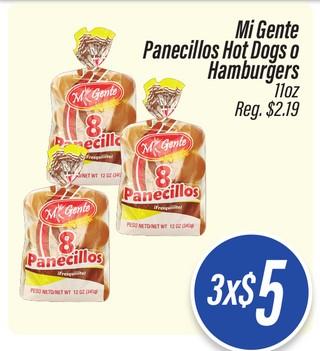 Panecillos, Hot Dogs o Hamburgers Mi Gente