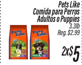 Pets Like Comida para Perros Adultos o Puppies