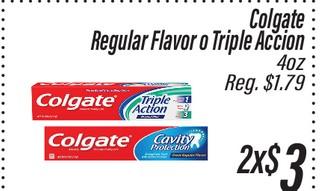 Colgate Regular Flavor o Triple Accion