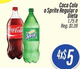 Coca Cola o Sprite Regular o Dieta