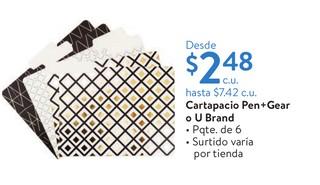 Cartapacio Pen+Gear o U Brand