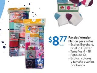 Panties Wonder Nation para Niñas