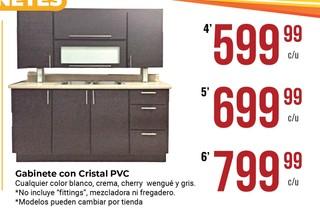 Gabinete con Cristal PVC