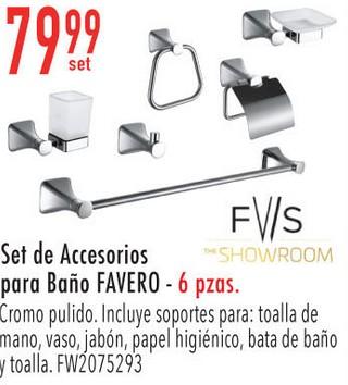 Set de Accesorios para Baño FAVERO