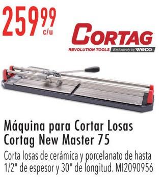Máquina para Cortar Losas Cortag New Master 75