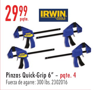 "Pinzas Quick-Grip 6"""