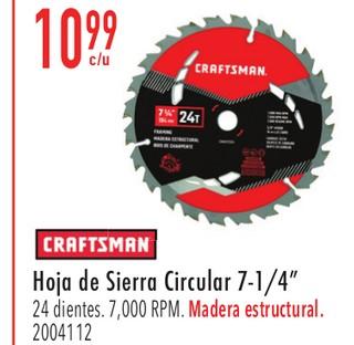 """Craftsman Hoja de Sierra Circular 7-1/4"""""""