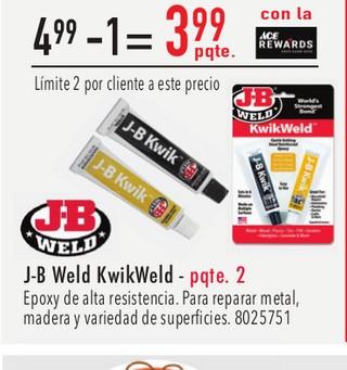 J-B Weld KwikWeld - Pqte 2