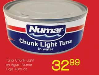 Tuna Chunk Light en Agua Numar