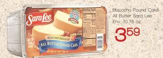 Bizcocho Pound Cake All Butter Sara Lee