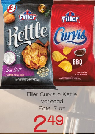 Filler Curvis o Kettle Variedad