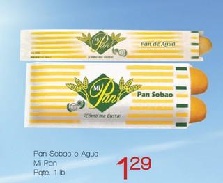 Pan Sobao o Agua Mi Pan