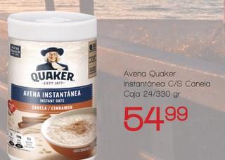 Avena Quaker Instantánea C/S Canela