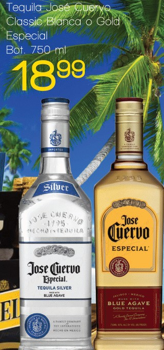 Tequila José Cuervo Classic Blanca o Gold Especial