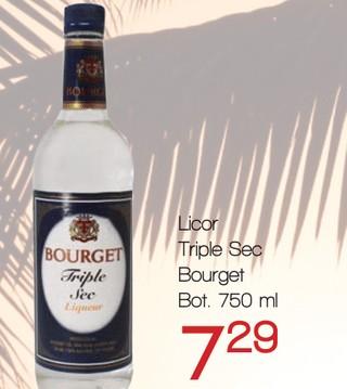 Licor Triple Sec Bourget