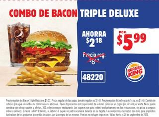 Combo de Bacon Triple Deluxe