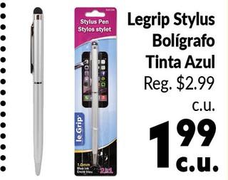 Legrip Stylus Bolígrafo Tinta Azul