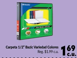 "Carpeta 1/2"" Bazic"