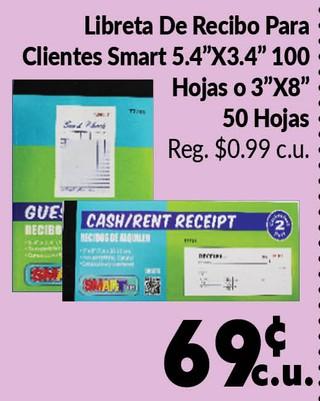 Libreta de Recibo Para Clíentes Smart
