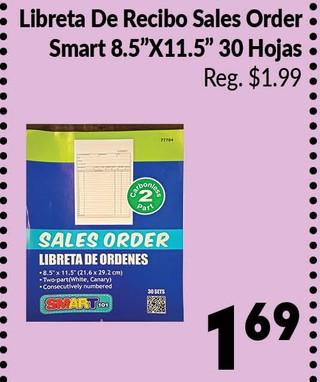 Libreta de Recibo Sales Order