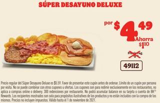 Súper Desayuno Deluxe