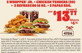 2 Whopper Jr. + Chicken Tenders (20)