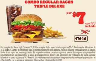Combo Regular Bacon Triple Deluxe