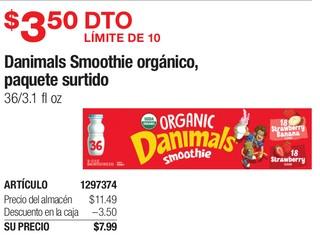 Danimals Smoothie Organico