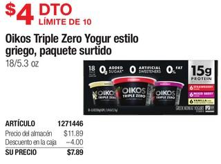 Oikos Triple Zero Yogur