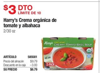Harry's Crema Orgánica de Tomate