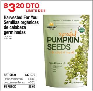 Harvest For You Semillas Orgánicas de Calabazas