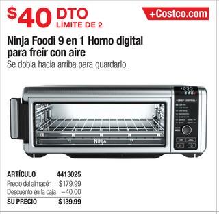 Ninja Foodi 9 en 1 Horno Digital para freir con aire