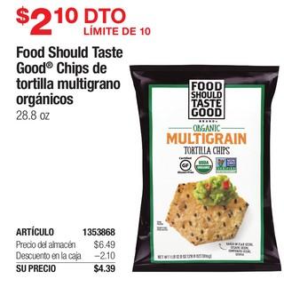 Food Should Taste Good Chips de Tortilla Multigrano Orgánico